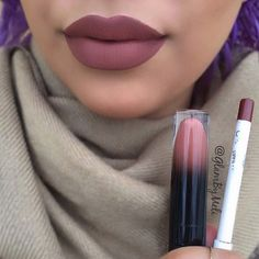 black moon cosmetics lipstick in libra & colourpop lip liner in grunge Kiss Makeup, Love Makeup, Makeup Inspo, Makeup Inspiration, Gorgeous Makeup, Makeup Trends, Makeup Stuff, Lipstick Colors, Lip Colors