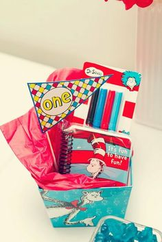 """Photo 13 of 18: Cat in the Hat and Thing 1/2 and One Fish 2 Fish / Birthday """"Dr. Seuss Inspired Book Favorites"""" 