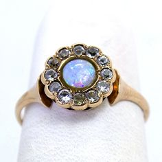 10K Rose Gold Victorian Opal and Paste Ring by JMPierceJewelry. This is an actual victorian ring in my size!
