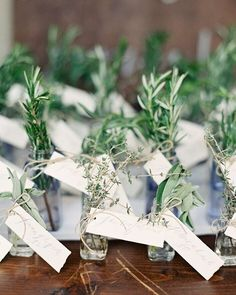 Escort cards tied around lovely glasses of herbs. So many creative ways to honor your guests! Another beautiful shot from @jenhuangphoto for @ambiefriend & @joellyjoel's wedding, and a dream team of @charmedevents @frances_lane and @nataliebdesigns