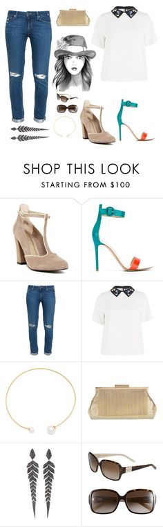 """""""Just Another Day In Paradise"""" by soupiekitty on Polyvore featuring Seychelles, Gianvito Rossi, Paige Denim, Sportmax, Fallon, Whiting & Davis, Stephen Webster and Kate Spade"""
