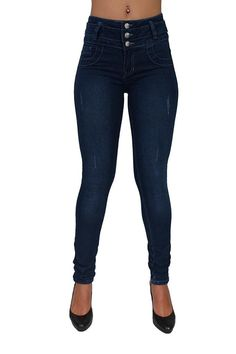 High Waist Butt Lift Colombian Style Skinny Leg Jeans By Diamante DJ-M1099NVY ** This is an Amazon Affiliate link. You can find more details by visiting the image link.