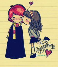 Ron and Hermione Love by ~cleobella on deviantART