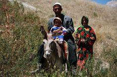 Yaghnobi Family from the Yaghnob Valley, Tajikistan.