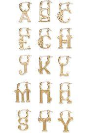 A-Z Alphabet gold-plated earring