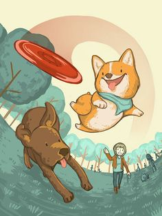 Day in the life of a Corgi by Jamie Lee, via Behance