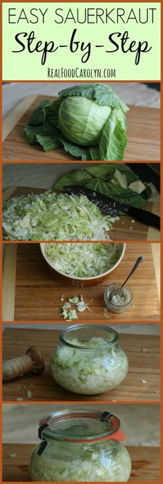 How to Make Sauerkraut … Easy Step-by-Step Tutorial! | Real Food Carolyn #kombucha Also check out: http://kombuchaguru.com