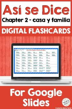Flashcards are perfect for helping kids learn & practice Spanish vocabulary! Opens in Google Slides & perfect for distance learning! #distancelearning #spanishfamily #spanishhouse #lacasa #digitalflashcards #spanishflashcards #asisedice