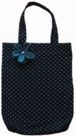 Blue Polka Dot Print Shopping Bag
