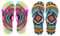 Cosmically Exotic Sandals - The Havaianas Mara Hoffman 2014 Collection is Full of Vibrant Colors (GALLERY)