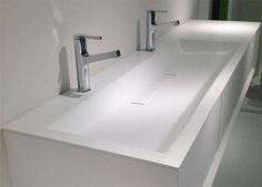 Home - Falper Marble Countertops Bathroom, Corian Sink, Corian Countertops, White Kitchen Sink, White Sink, Trough Sink, Basin Sink, Bathroom Vanity Tops, Small Bathroom