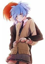 No puede realmente gustarme esto... pero, me gusta mucho menos imaginar a Karma-Kun con Okuda-San >~< (#NagisaCelosa)