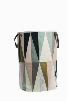 The shapely Spear Laundry Basket was designed for the label ferm Living. The laundry basket by ferm Living convinces with its clear, graphic design and high-qu Toy Storage Bags, Storage Baskets, Kids Storage, Extra Storage, Storage Ideas, Laundry Hamper, Laundry Room, Laundry Storage, Bath