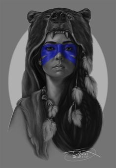 deviantart wolf head girl - Google Search ~ think it is actually a bear