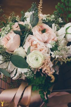 Rustic blush and white wedding bouquet: Photography: Katy Gray Photography - katygray.com