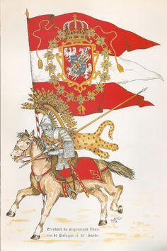 ESTANDARTE DE EL REY DE POLONIA, SEGISMOND VASA, 1566-1632.
