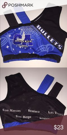 California Allstars 2 strap Sports Bra Cali 2 strap bedazzled Sports Bra. Good condition!! Shirts & Tops