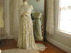 Ivory Hippie Lace Collage Wedding Gown, One of a KIND, Boho wedding Dress, Plus Size, Fairy wedding Fairy Wedding Dress, Wedding Gowns, Our Wedding, Bridal Gowns, Vintage Gowns, Vintage Lace, Hippie Bride, Plus Size Gowns, Pretty Dresses