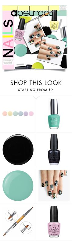 """""""Abstract Nails"""" by selena-gomezlover ❤ liked on Polyvore featuring beauty, Deborah Lippmann, OPI, Essie and alfa.K"""