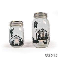 Decorate your own jars to fill with treats and favors or use your mason jar and these decals to make your own DIY Christmas craft as a Christmas gift for a ...