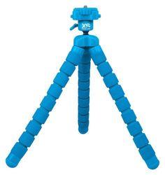 """Xsories - Big Bendy Monochrome 10.6"""" Flexible Tripod - Blue"""