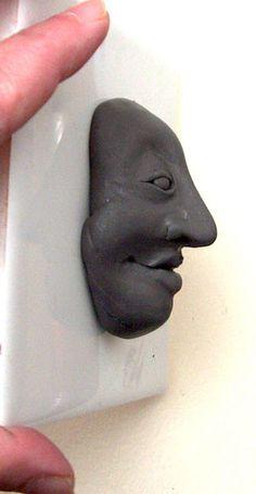 polymer clay face sculpt