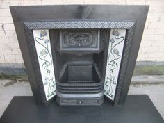 Victorian/Edwardian fire surround Edwardian Fireplace, Fire Surround, Living Spaces, Living Room, Fireplaces, Cast Iron, Art Nouveau, Period, New Homes