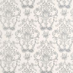 Laura Ashley Aston Silver Patterned Wallpaper