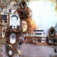 Vendégalkotónk: Kószóné Miskei Andrea Scrapbook Pages, Scrapbooking, Layout Inspiration, Washi, Layouts, Mixed Media, Clock, Projects, Vintage