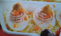 Huevos rellenos de jamón