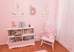 Project Nursery - Pink Travel Themed Nursery Glider View