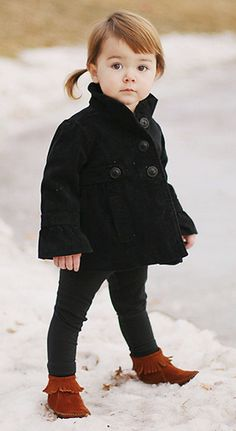 Baby peacoat and boots. Seriously though, this could be the most adorable thing I've ever seen :)