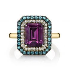 Purple Spinel Duet Ring