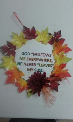We did these in Sunday school for the Fall