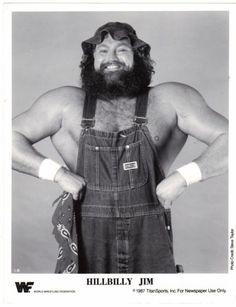 Vintage 1987 Titan Sports HILLBILLY JIM 8x10 Newspaper Promo Photo WWF Wrestling