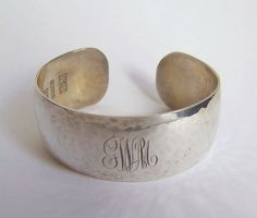 Vintage Arts & Crafts William L deMatteo Sterling Silver Wide Cuff Bracelet #Cuff #esmesdrawer