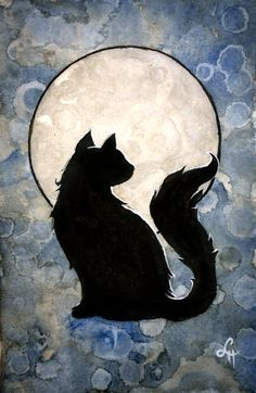 Moon Cat by linmh.deviantart.com on @deviantART