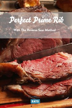 Step-by-Step: How to Roast a Perfect Prime Rib Using the Reverse Sear Method -- Prime rib is and perhaps always will be the king of holiday roasts. This step-by-step will guarantee that your holiday centerpiece comes out perfect every time. Prime Rib Recipe Oven, Ribs Recipe Oven, Au Jus Recipe, Rock Salt Prime Rib Roast Recipe, Reverse Sear Prime Rib Recipe, Boneless Rib Roast Recipe, Slow Roasted Prime Rib, Rib Roast Cooking, Cooking Prime Rib
