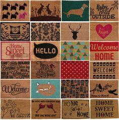 Large welcome tattoo door mat indoor outdoor entrance shop doormat ...