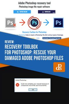 Recovery Toolbox for Photoshop: Rescue Your Damaged Adobe Photoshop Files Photoshop Help, Photoshop Tutorial, User Story, Recovery Tools, Photo Restoration, Digital Photography School, Bad Memories, Toolbox, How To Introduce Yourself