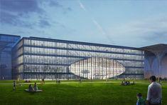Finaliza la obra gruesa de la nueva biblioteca diseñada por MVRDV en Tianjin,Cortesía de MVRDV