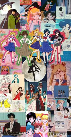 Sailor Scouts Collage aesthetic