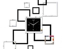 Living room new wall clock diy clocks home decoration watch horloge murale quartz acrylic mirror stickers Mirror Wall Clock, Black Wall Mirror, Diy Mirror, Wall Clocks, Hanging Clock, Diy Hanging, Mirror Tiles, Mirror Wall Stickers, Wall Stickers Home Decor