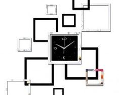 Moderné samolepiace nástenné hodiny Cubito