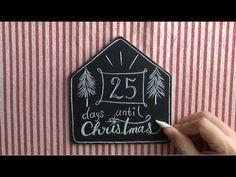 チョークアートでクリスマスカウントダウンボード!(chalkart: diy)