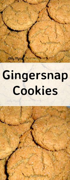 Ginger Snaps. An age old family cookie recipe and always popular!