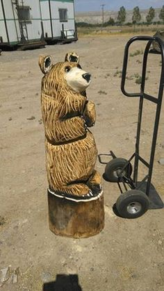 Chainsaw carved bear - ritlways.com