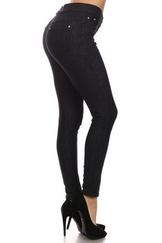 Black Fleece Lined Jegging - Lele B's Boutique