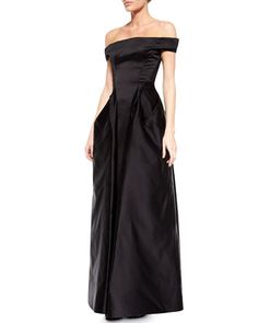 Zac Posen OFF THE SHOULDER SATIN GOWN e874437b3d