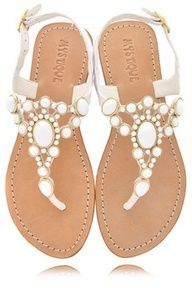 Mystique White Beaded Sandals  #swimsuitsforall, #BeachBelle and #pinyourparadise